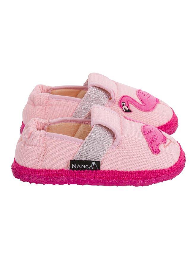 NANGA Hausschuhe Flamingo Baumwolle Rosa