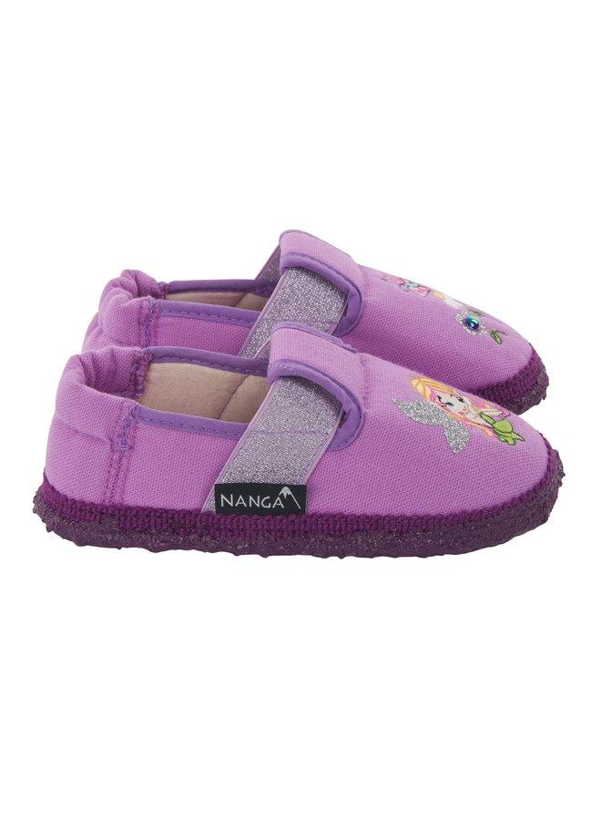 NANGA Hausschuhe Kleine Fee Baumwolle lila