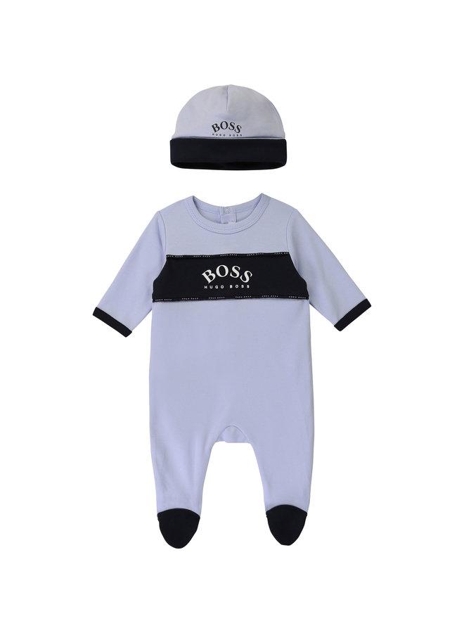 BOSS Baby Kombination Strampler mit Mütze - Copy