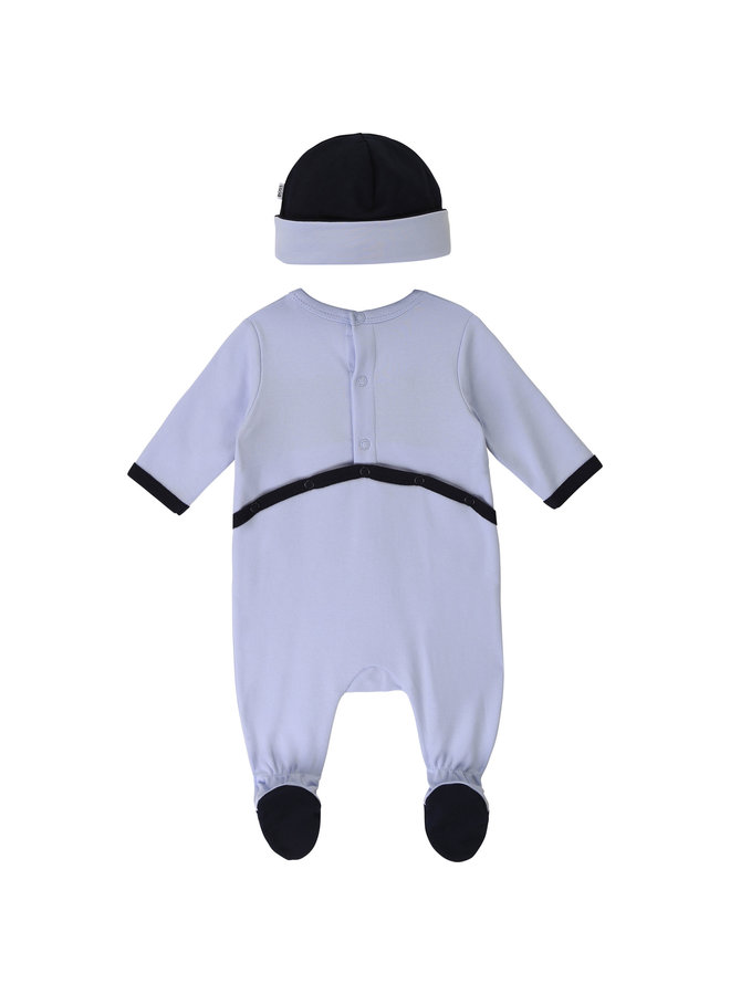 BOSS Baby Kombination Strampler mit Mütze 2 teilig  - Copy