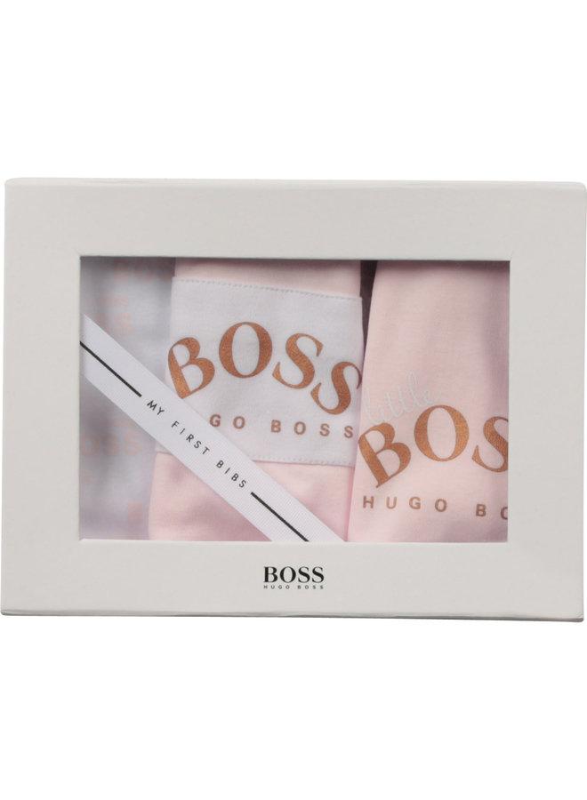 HUGO BOSS Lätzchen Geschenkset rosa weiß