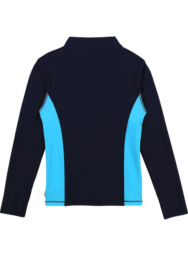 HUGO BOSS Kids UV-Schutz Shirt Langarmshirt marine