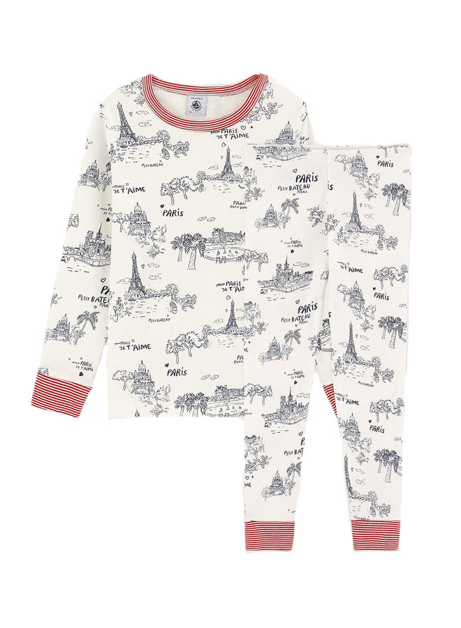 Petit Bateau Pyjama Paris Print