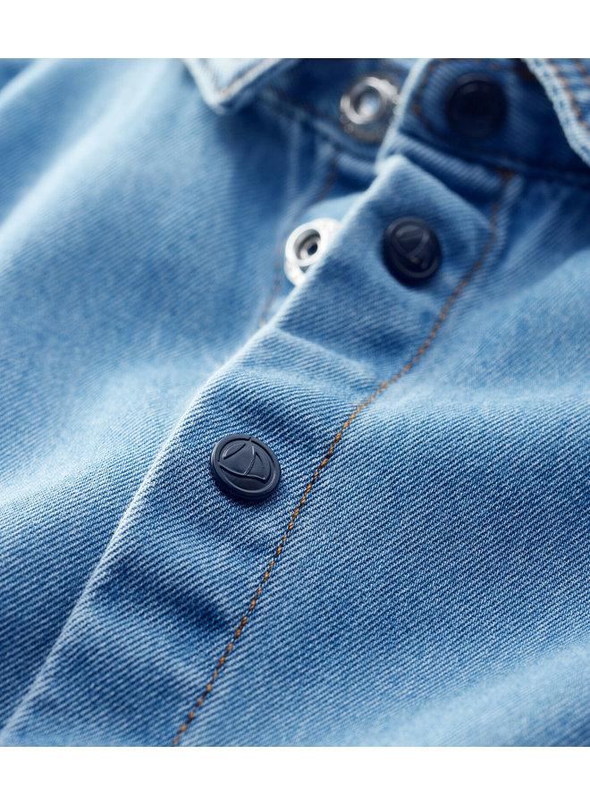 Betit Bateau Jeans-Babyhemd aus leichtem Denim