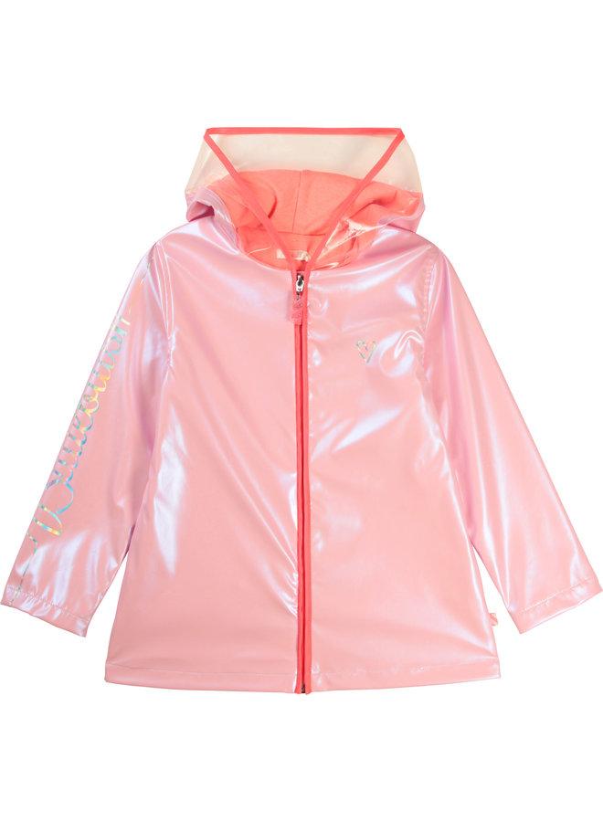 Billieblush Regenmantel rosa schimmernd