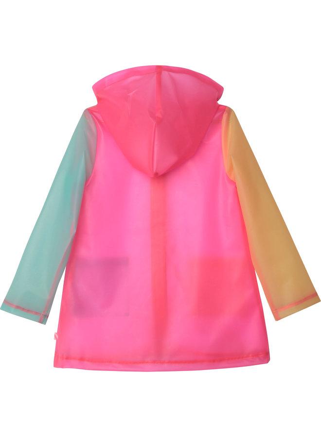 Billieblush Regenmantel mehrfarbig transparent pink