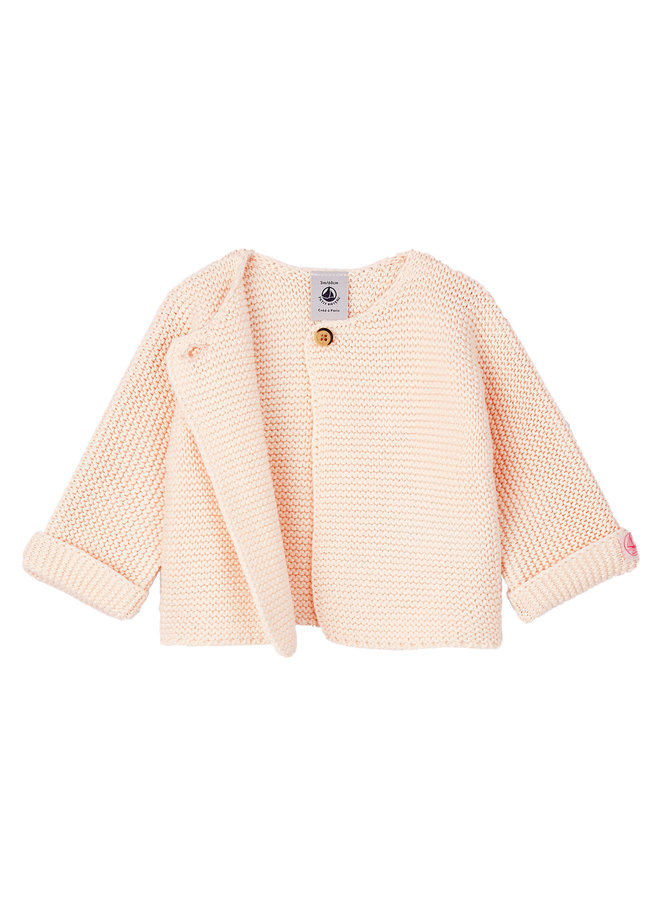 Petit Bateau Cardigan rosa / fleur Baby