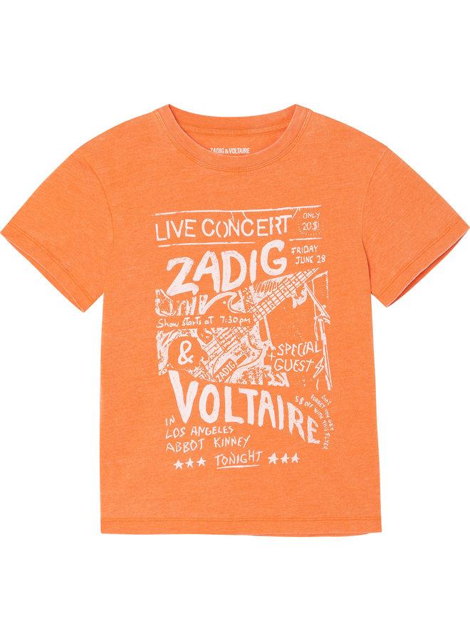 Zadig & Voltaire T-Shirt Abbot Kinney nektarine orange