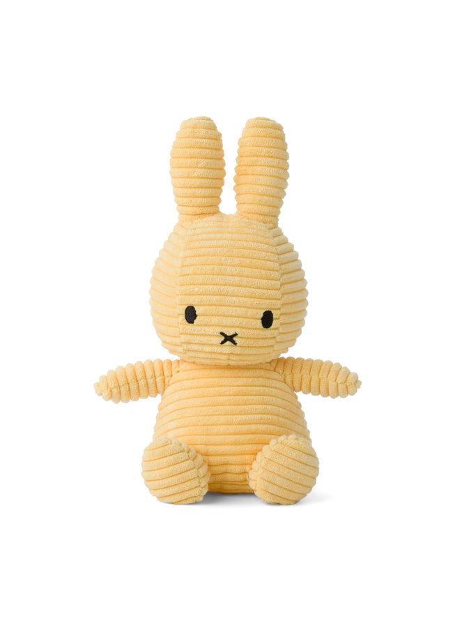Miffy sitzend Cord Buttercream gelb 23cm
