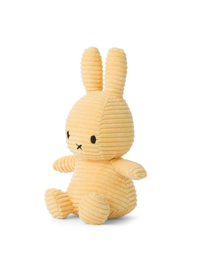 Miffy aus Cord sitzend Farbe Buttercream hellgelb 23 cm