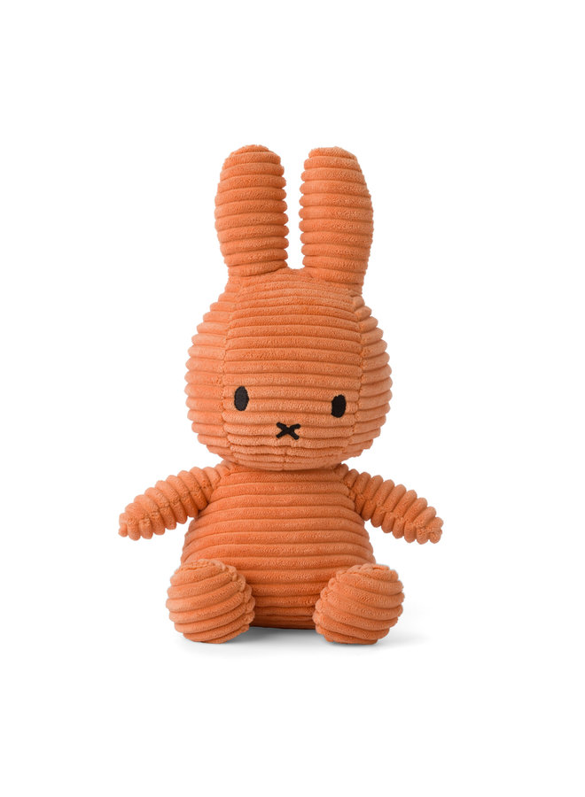 Miffy aus Cord sitzend Farbe Pumpkin / kürbis 23 cm
