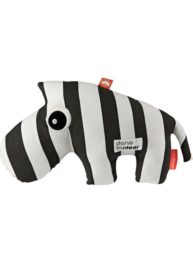 Done By Deer Zebra ZEBEE Kuscheltier schwarz weiß