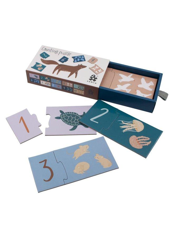 SEBRA Zahlen Puzzle 1-10 Seven Seas Daydream