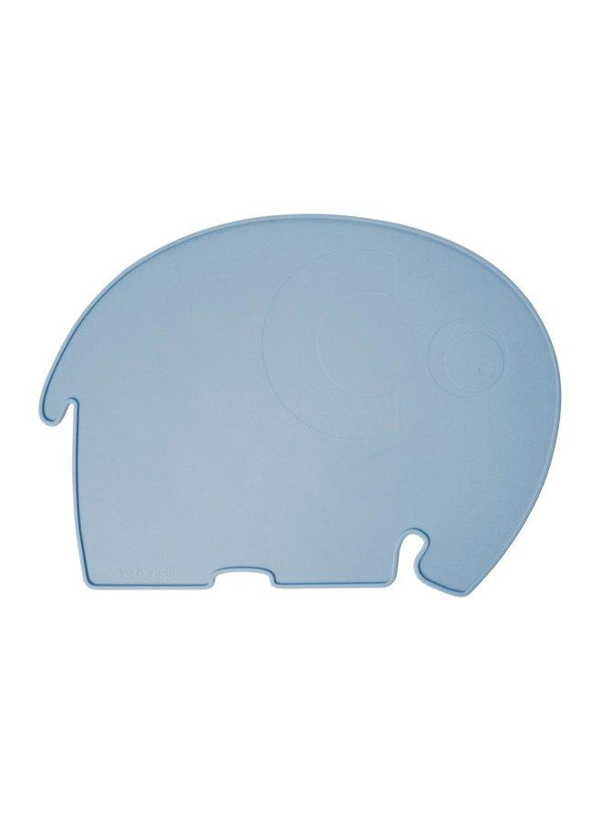 SEBRA Platzdecke Fanto der Elefant hellblau / powder blue 43 x 33cm