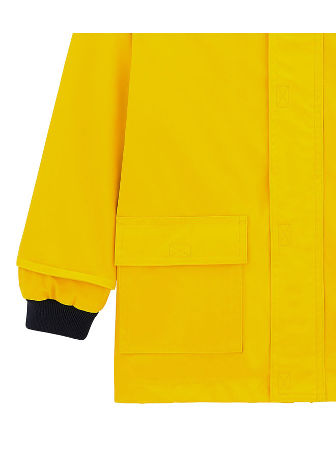 Petit Bateau klassische Regenjacke gelb