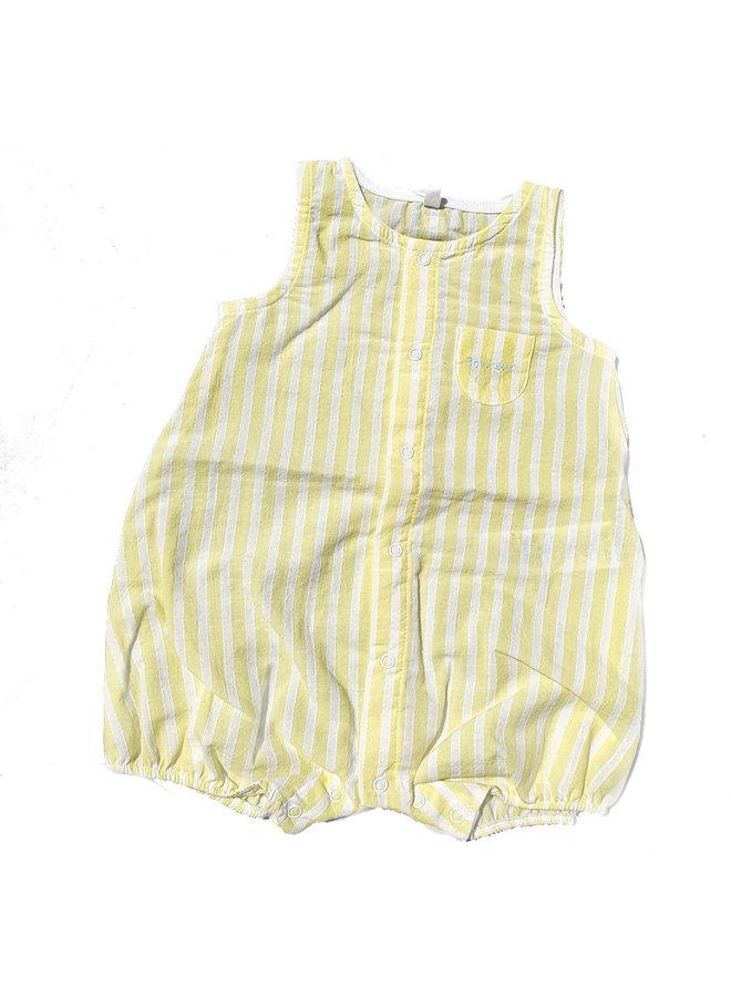 Petit Bateau Baby Spieler Einteiler gelb Popeline