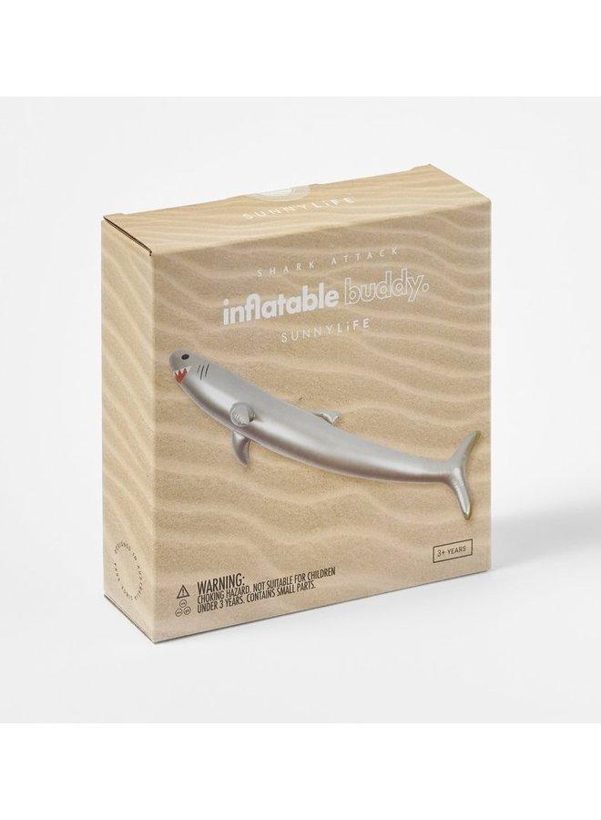 SUNNYLIFE aufblasbarer Buddy Hai Spieltier silber