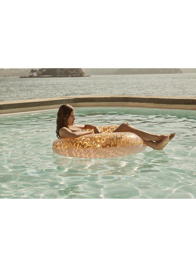 SUNNYLIFE Luxe Schwimmreifen Call of the Wild Leoprint