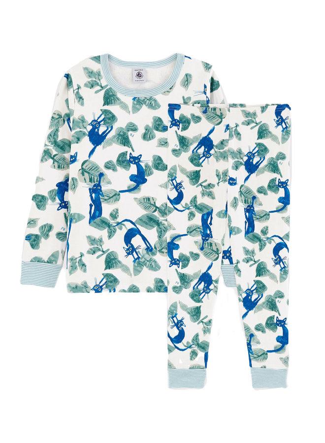 Petit Bateau Pyjama Katzen Print