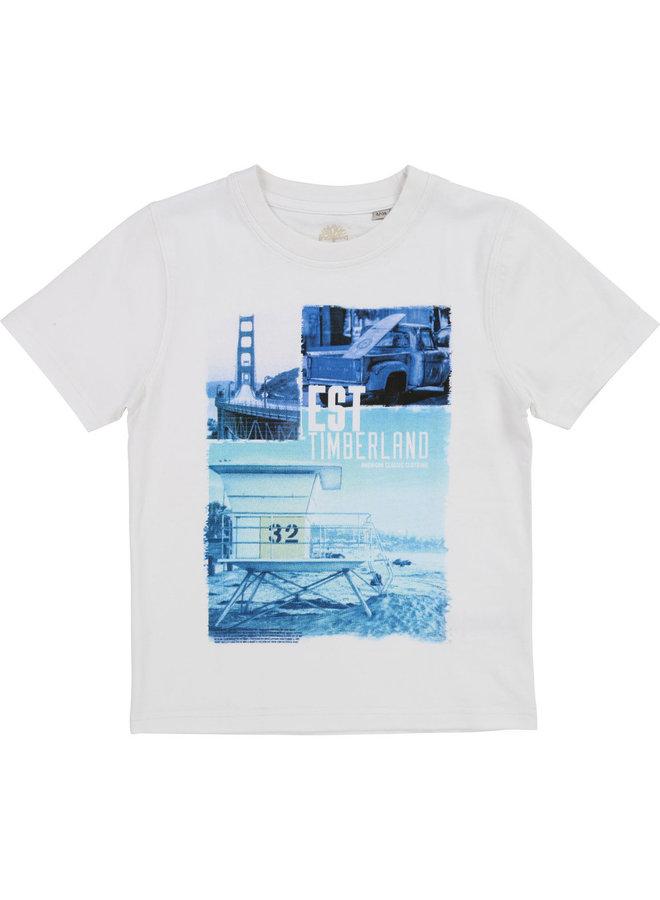 Timberland T-Shirt mit Print blau türkis