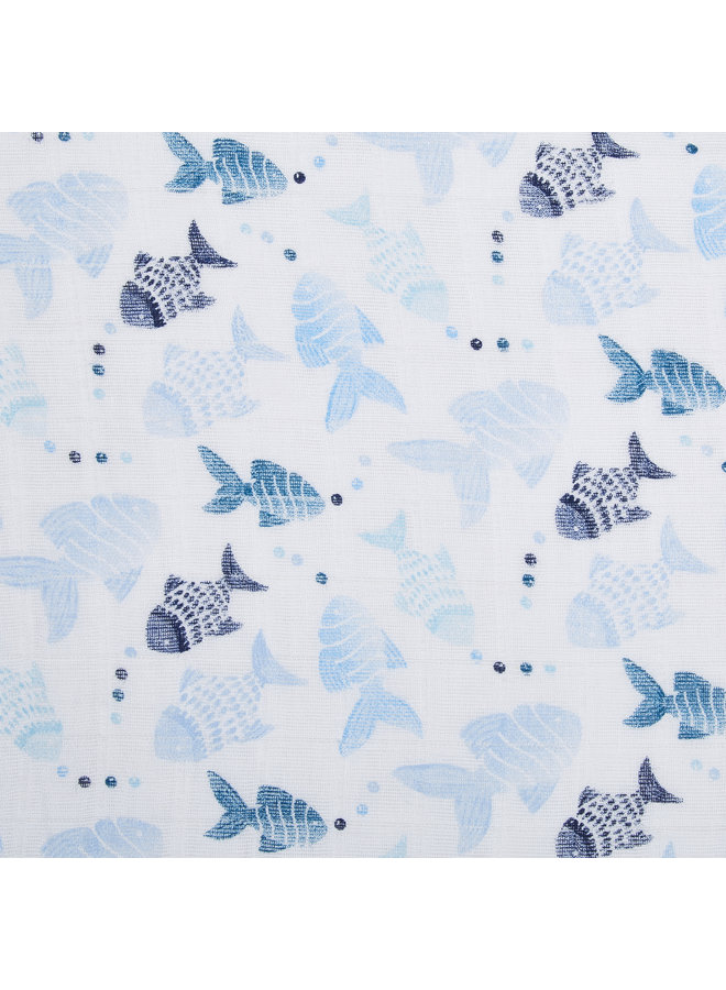 aden + anais Pucktuch single Swaddle gone fishing
