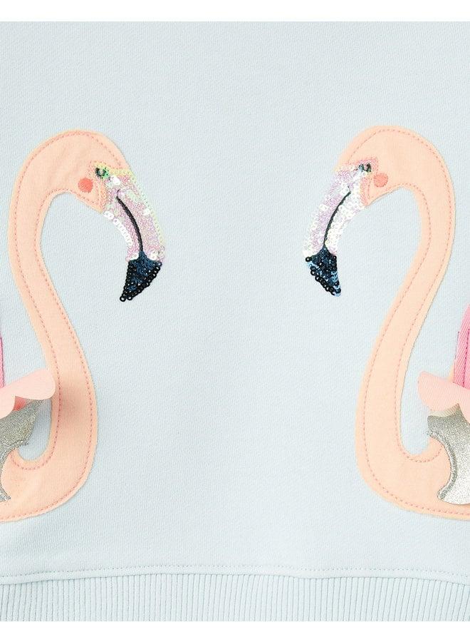 TOM JOULE Tiana Flamingo Sweatshirt