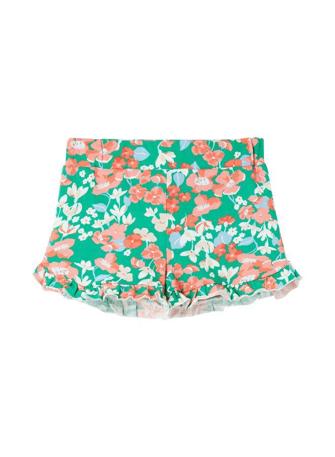 TOM JOULE Shorts Amara grün mit Rüschen
