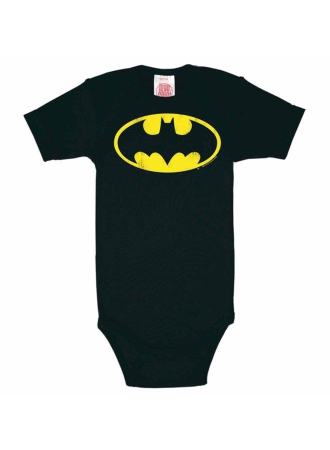 LOGOSHIRT Baby Body Batman schwarz