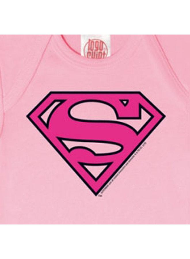 LOGOSHIRT Baby Body Supergirl rosa pink