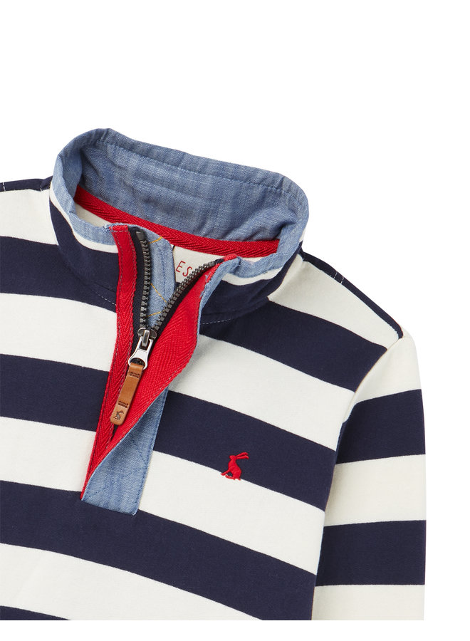 TOM JOULE Sweatshirt Captain mit Streifen