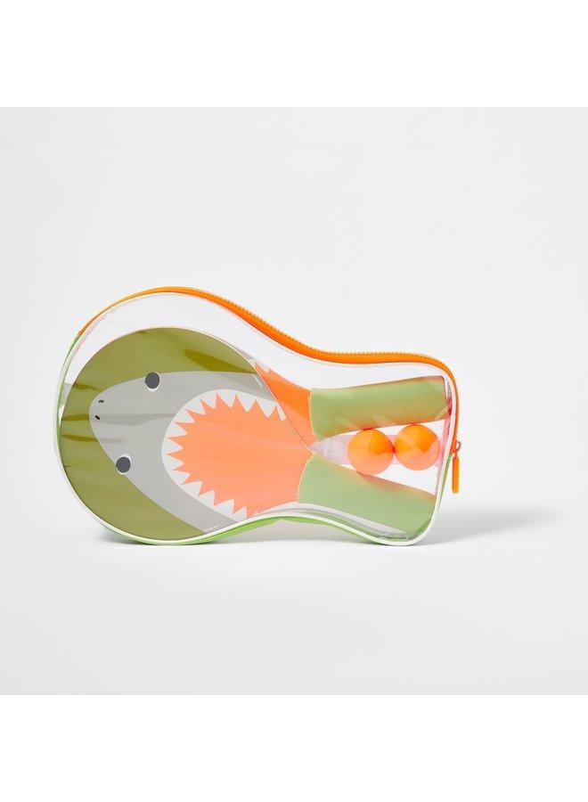 SUNNYLIFE Mini Beachball Schläger SHARK ATTACK Hai