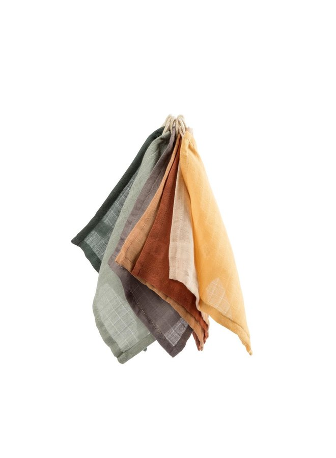 Sebra Multipack Waschlappen Musselin aus Bio Baumwolle