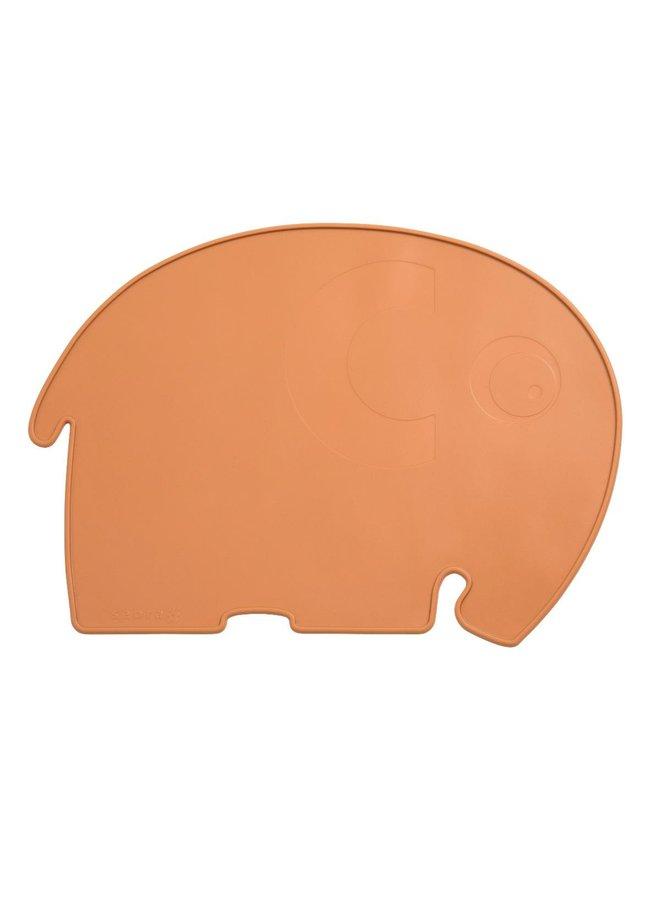 SEBRA Platzdecke Fanto der Elefant braun/  toasted orange 43 x 33cm - Copy