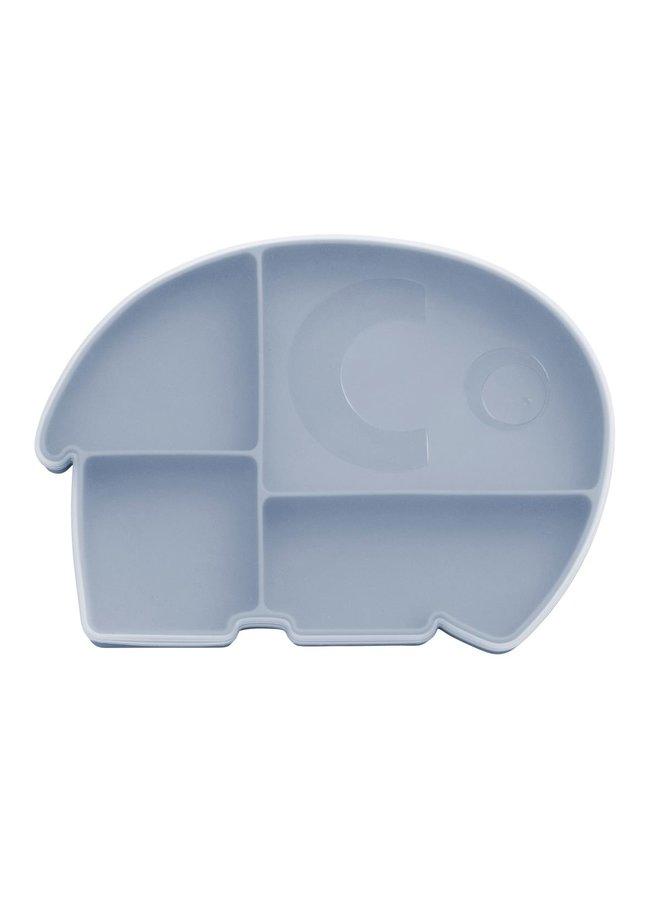 SEBRA Silikonteller mit Deckel Elefant Fanto