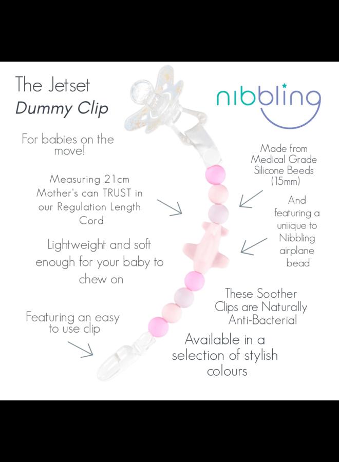 NIBBLING Schnullerkette JetSet rosa pink