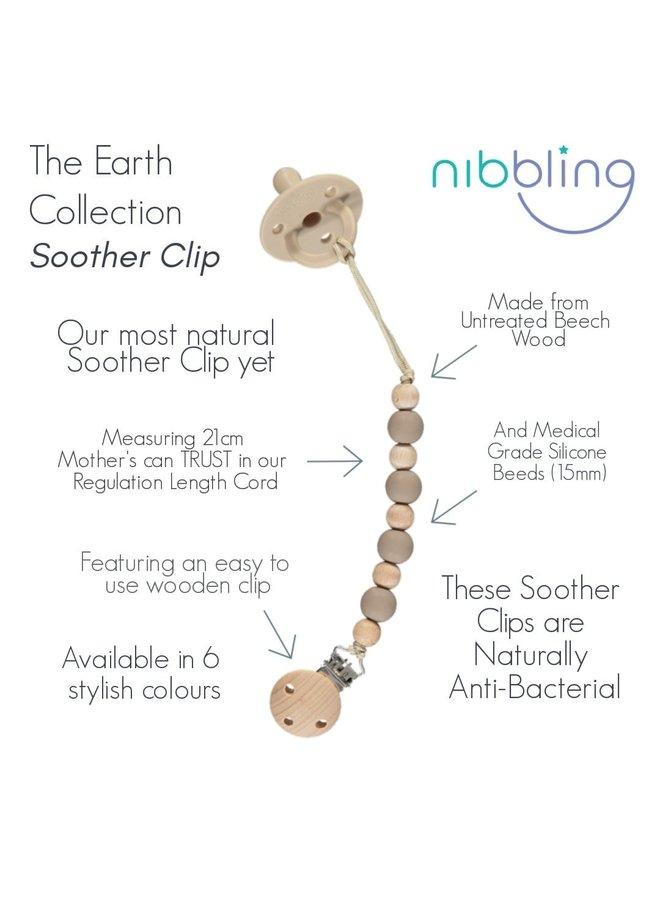 NIBBLING Schnullerkette Earth natural range