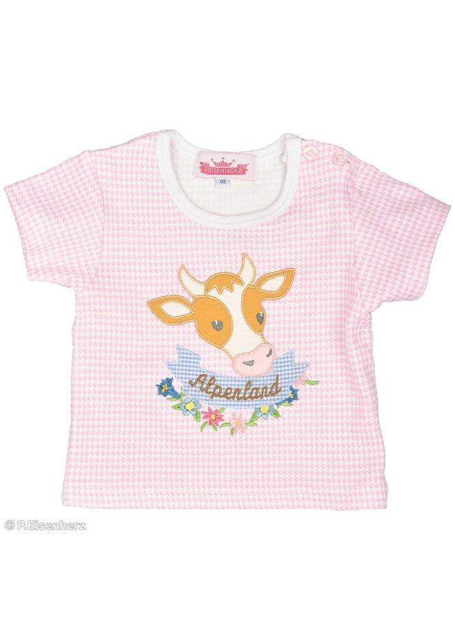 P. Eisenherz T-Shirt rosa Kuh