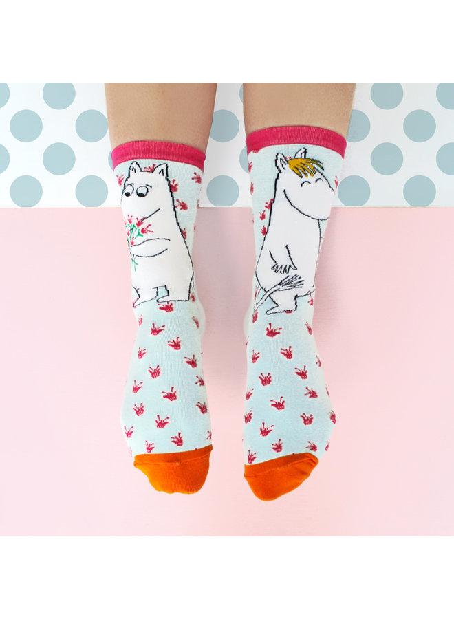 """House of Disaster Socken Mumin """"Bouquet"""" mit schönem Print"""