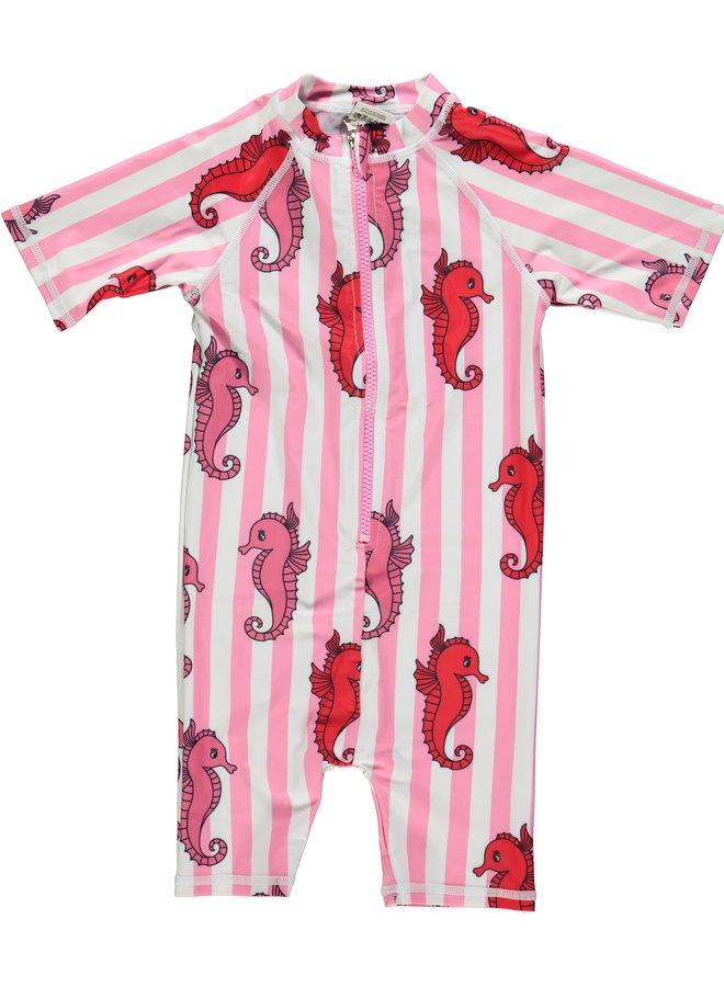 SMAFOLK Schwimmanzug Seepferdchen UV Schutz Badeanzug