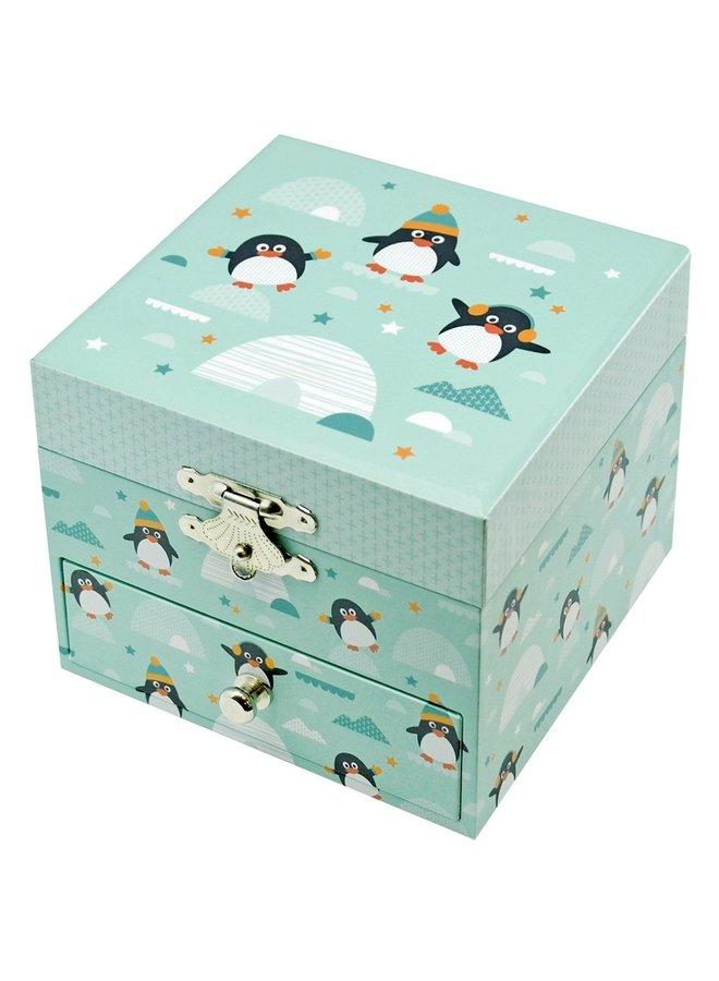 Trousselier Pinguin Glow in the Dark Cube Spieluhr
