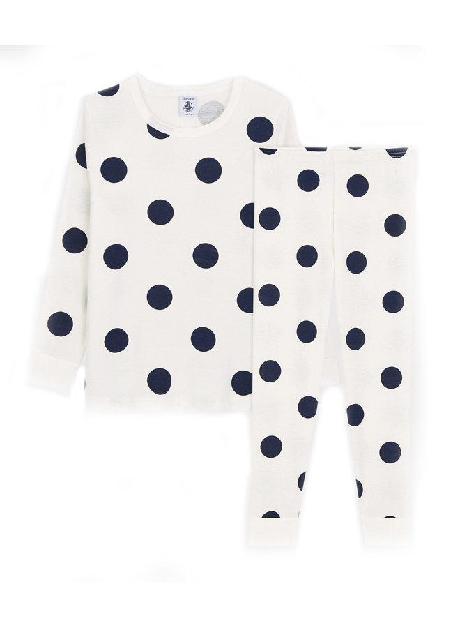 Petit Bateau Pyjama creme Dots