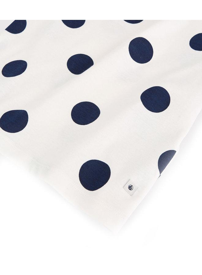 Petit Bateau Pyjama creme Dots aus Biobaumwolle