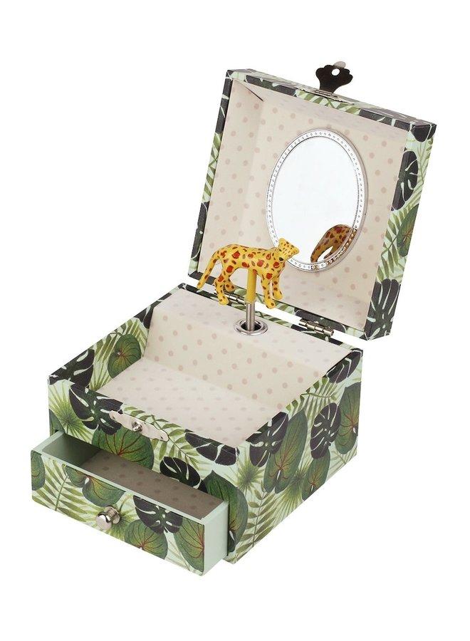 Trousselier Savanne Leopard Musical Cube Spieluhr