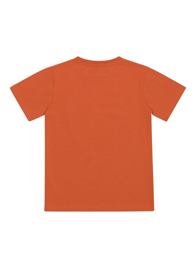 Automobili Lamborghini T-Shirt Logoprint orange