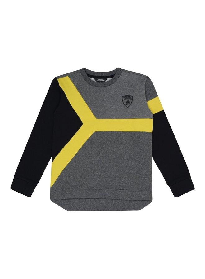 Automobili Lamborghini Kidswear Sweatshirt gelb grau