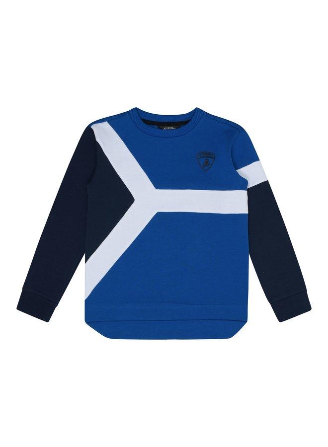Automobili Lamborghini Kidswear Sweatshirt blau weiß