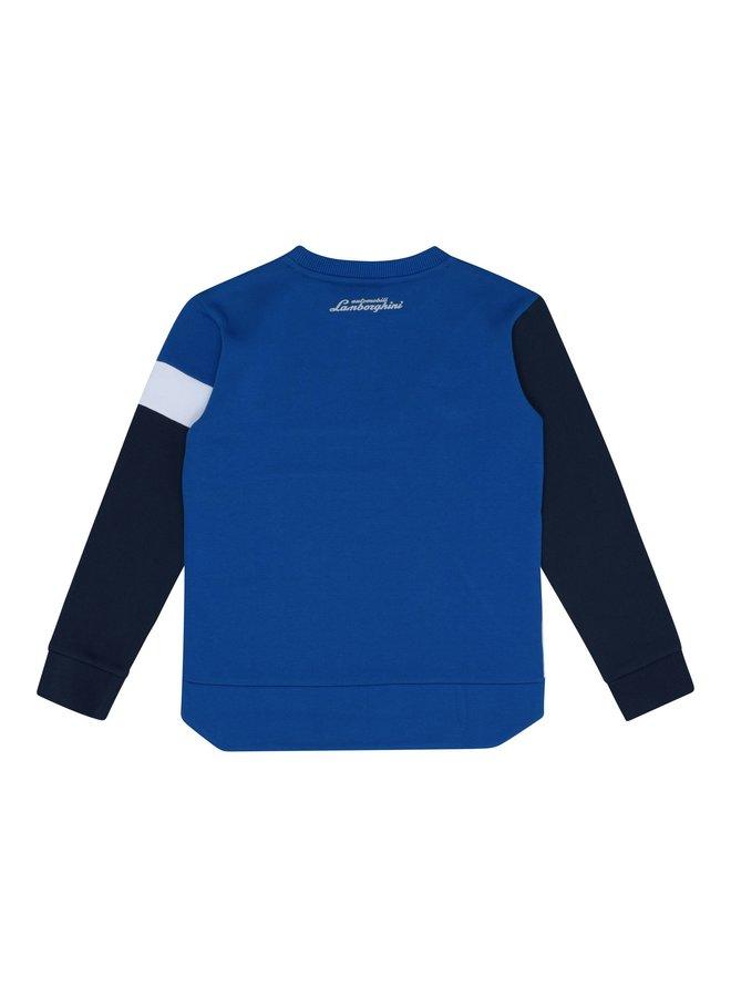 Automobili Lamborghini Sweatshirt Y Shape blau weiß