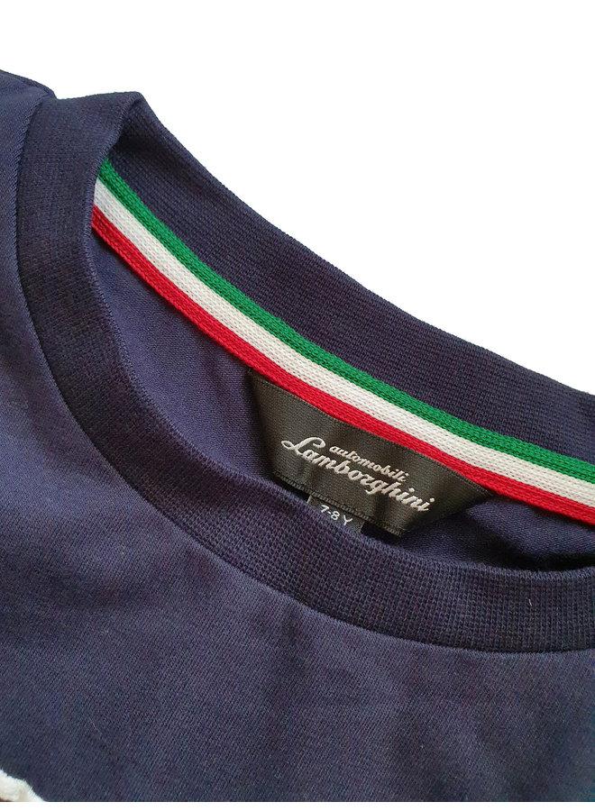 Automobili Lamborghini T-Shirt Logoprint dunkelblau