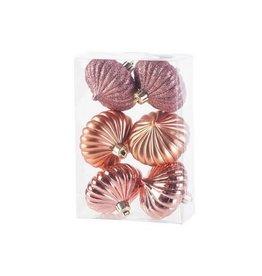 Cosy & Trendy Hanger tol assortiment roze tinten set 6 D6cm in kunststof