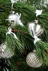 Rivièra Maison Happy Holiday Orn. silver 4 pcs